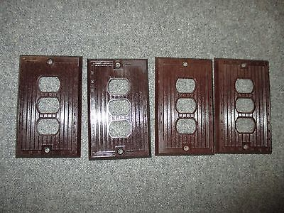 Vintage Bryant Despard System Bakelite Mcm Era Three Gang Switchplate Cover 3