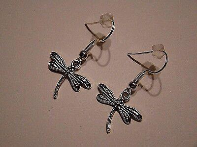 53f77f611f OHRRINGE OHRHÄNGER OHRSTECKER Libelle Antik-Silber Optik Damen Mode Schmuck