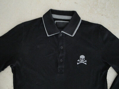64e9cfe91f882 ... Philippe Plein Homme Polo Noir Manches Longues Taille M Top Haut Tee- shirt