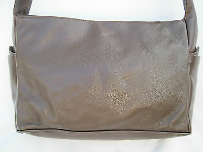 9b06700c2c AUTHENTIQUE SAC À main HENRY SAXEL cuir TBEG vintage bag A4 - EUR 58 ...