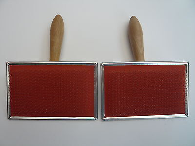 Heidifeathers® British Made Hand Carders (Pair) - For Wool + Silk 72 Point 5