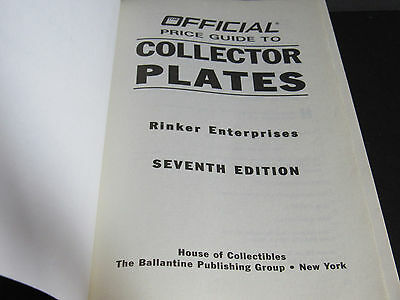 OFFICIAL PRICE GUIDE  to COLLECTOR PLATES  ~ Reference Book  Seventh Edition 3