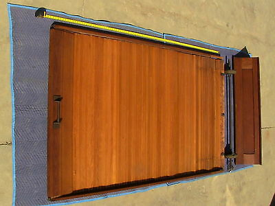 Victorian Antique Oak Wood Tambour Door Partition Overhead Roll Up Parlor Entry 7