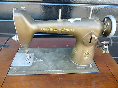 Antique 'Free Westinghouse' Sewing Machine Type E in Ornate Cabinet 3