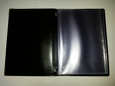 Top Quality Pu Guest Information  Pvc Folder With 10 Pockets Ref Black/Gold 2