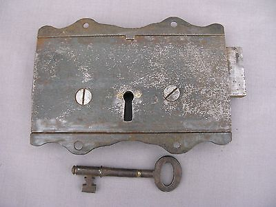 A 19th Century working Rim Lock with key - possibly early 2