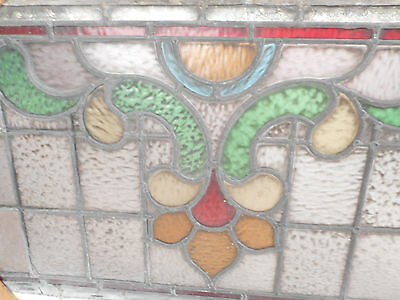 Vintage Stained Glass Window Panel (3205)NJ 4
