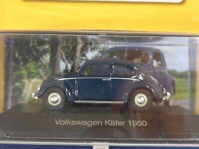 DeAGOSTINI #01 VW Brezel-Käfer in blau 1:43 NEU//PC-Vitrine 1950