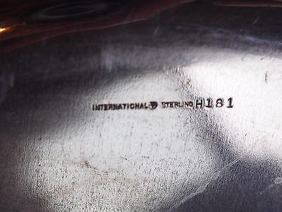 "Vtg Antique Royal Danish Int'l Sterling Silver Clover Leaf Pierced Tray 11"" 748g 9"