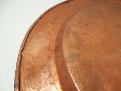 Vintage Arts & Crafts 12 inch Hammered Copper Plate 589 grams 7