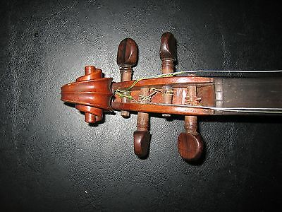 Beautiful Vintage Violin & Bow German Brazilian Wood French Commercial 8