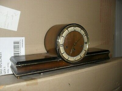 Beautiful Art Deco  mantle clock with Westminster chimes 3