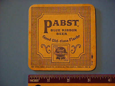 BEER COASTER ~**~ PABST BLUE RIBBON Gold Old-Time Flavor ** Milwaukee, WISCONSIN