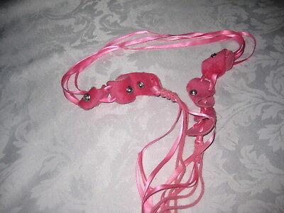 Girls Pink Ribbon Belt 3
