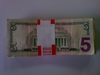 5,000 - NEW Self-Sealing Currency Bands - $500 Denomination - Straps Money  Fives
