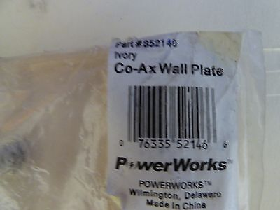 Powerworks Co-AX wall plate (ivory) (nos) 2