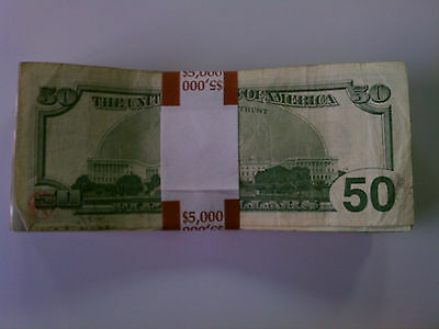 4,000 New Self-Sealing Currency Bands - $5000 Denomination Straps Money  Fifty