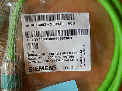 SIEMENS 6FX 8002-2EQ14-1AC0 Encoderkabel, Signal cable, Asolute encoder in Motor
