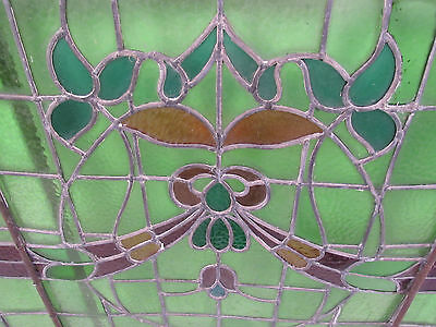 Large Vintage American Candy Store Stained Glass Window (2375)NJ 3