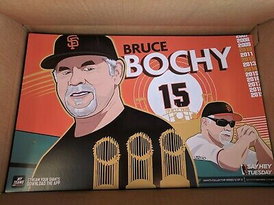 SF Giants 2019 Bruce Bochy Authentic Fan Tuesday Cheer Card Poster 9/24 Boch 3