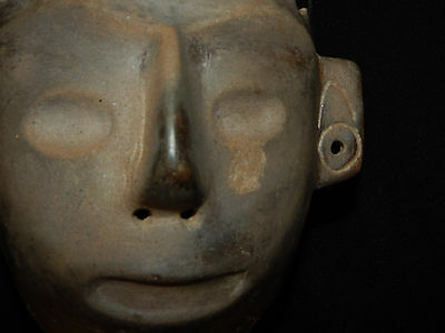 Pre-Columbian Life-Size Colima Death Mask, Shaft Tomb, Archaic, 100% Authentic 9