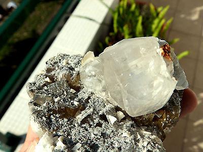 "Minerales"" Fantastico Mineral Fluorescente De Fluorita+Calcita Asturias- 6A15 "" 11"