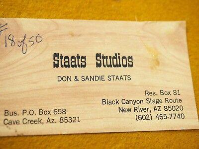 "Vintage Don Staats Bronce Pared Escultura ""The Caballo Trader 1973 Número 18/50 11"