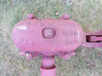 Rare F. E. Myers Cast Iron Antique Standing Hand Water Well Pump 4