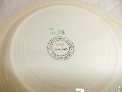C4 Pottery Ridgways Hand Painted Bedford Ware - dainty floral, embossed - 3E1B 4