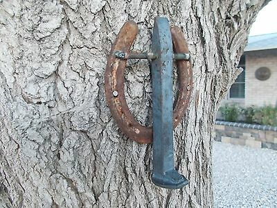 Horseshoe & Railroad Spike  Door Knocker