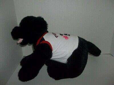 """babw build a bear workshop black lab labrador puppy dog plush 11"""" tall 4"""