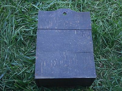Vintage Antique Wooden Box For Cutlery With Dark Patina 6