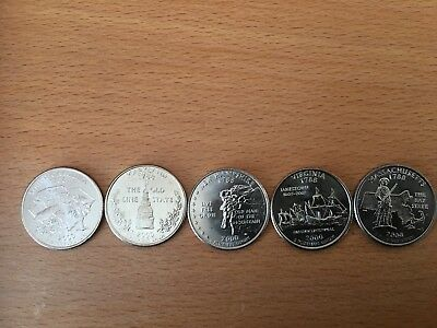 PICK ANY OF THE 50 US STATE QUARTERS P or D mint - UNCIRCULATED 8