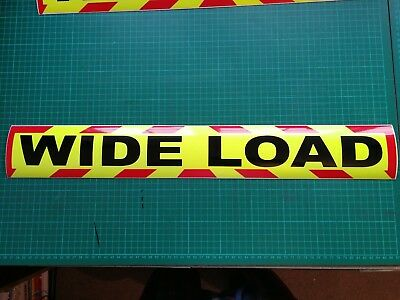 WIDE LOAD MAGNET MAGNETIC Lorry Truck Trailer long CHEVRON Towing Volvo DAF x 1 2