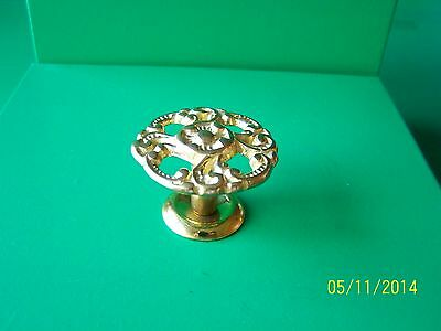 """Victorian Drawer Knobs Antique Style, 1 1/2"""" Dia. Solid Brass 2"""