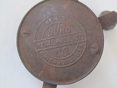 VINTAGE Duro Metal Products Co Tool No. 412 Hand Crank Rotary Valve Lapping Tool