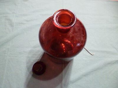 Alte Laborglasflasche Braunglas m. Schliff-Stopfen (5 Liter), ungebraucht 2