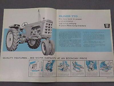 original 1965 Oliver 640 Cultivator sales Brochure Catalog Tractor Mounted 1650