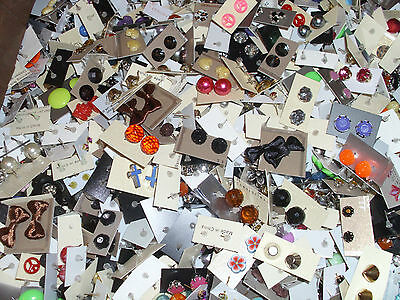 s**SPECIAL OFFER ** WHOLESALE LOT STUD EARRINGS 50 PAIRS 6