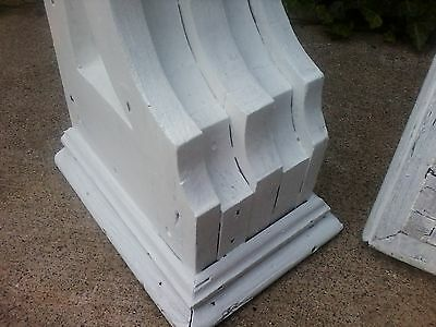Pair Of Antique Wooden Gingerbread Plantation Porch / House Corbels 9