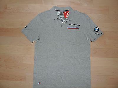 16cf7d3db2df ... BMW Motorsport M Power Puma Shirt Casual Polo Gray Navy Blue Propeller  Logo 3