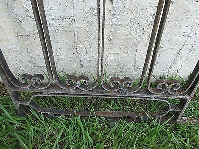 Antique Victorian Iron Gate Window Garden Fence Architectural Salvage Door #114 3