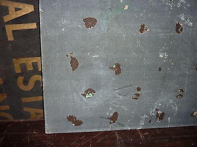 """antique ORIGINAL circa 1920's schoolhouse MASONITE chalkboard 60"""" x 42 UTICA, NY 10"""