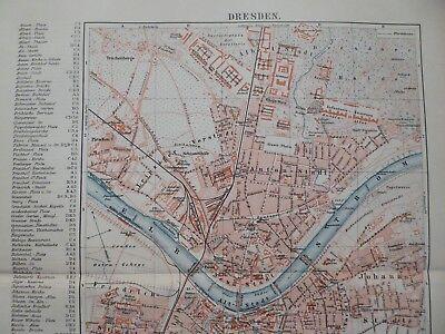 Stadtplan von Dresden, Maßstab 1:27000, Meyer um 1897
