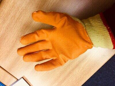 10 Pairs Rubber Safety Gripper Gloves Mens Builders Gardening DIY Work Gloves 4