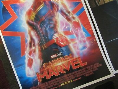 """- B2G1F T3 Captain Marvel 11/"""" x 17/"""" Movie Collector/'s Poster Print"""