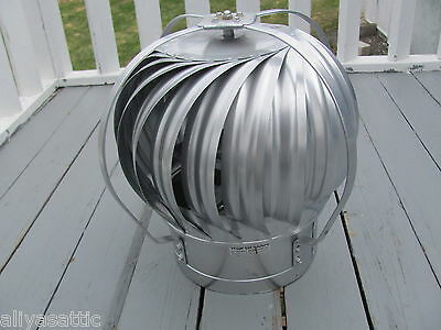 "Quality Wind Turbine Cooling Fan Roof Mount NOS Wisper Cool Made in USA 12"" V 5"