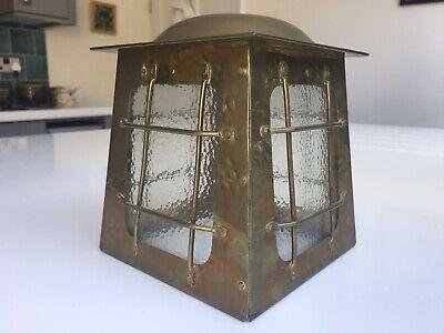 Art Deco - Arts & Crafts era Brass Lantern 4