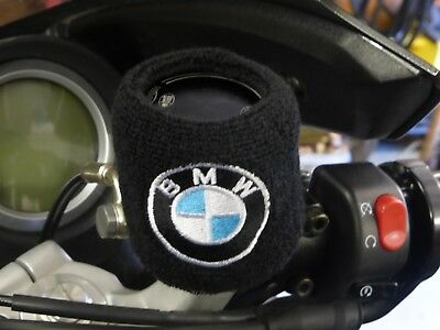 Pair BMW Brake Reservoir Socks Reservoir Covers Embroidered Cotton BMW S1000RR W