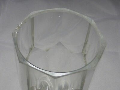Monogramm Kelchglas geschliffen graviert wohl Böhmen um 1900 (Nr. 1123) 5